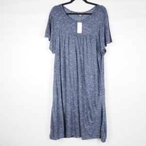 Chelsea & Theodore Cut and Sew Knit Dress Blue XL
